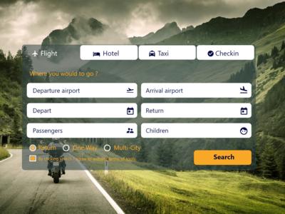 Online Flight, Hotel, Taxi booking design