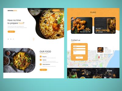 Biryani Boys - Single page food website template