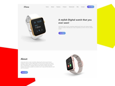 i-Time - Product Home landing Page