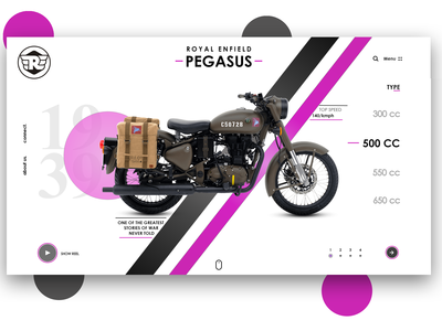 Royal Enfield Pegasus - Website Redesign