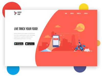 Burger point - Illustration food delivery landing page