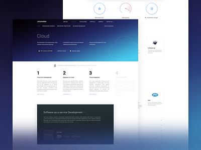 Developer website development developer gradient blue ui web