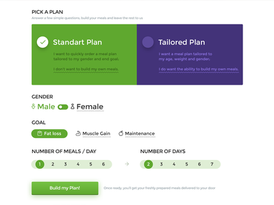 Healthy Form green controls forms clean ui web