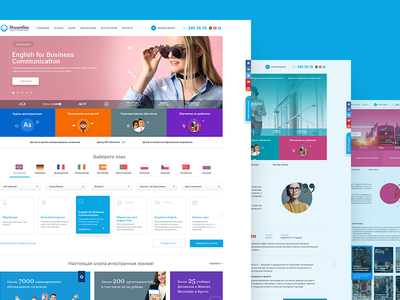 Streamline Redesign streamline language school clean blue corporate responsive web