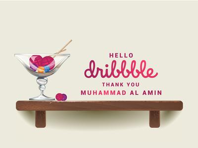 Hello Dribbble 01