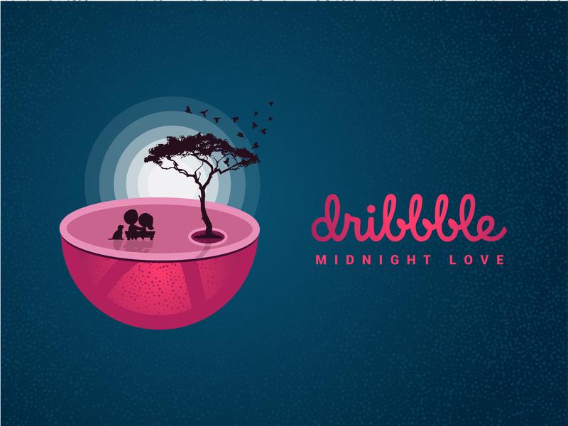 Midnight Love illustration design dribbble vector design designer graphicdesign illustrations illustration art illustration