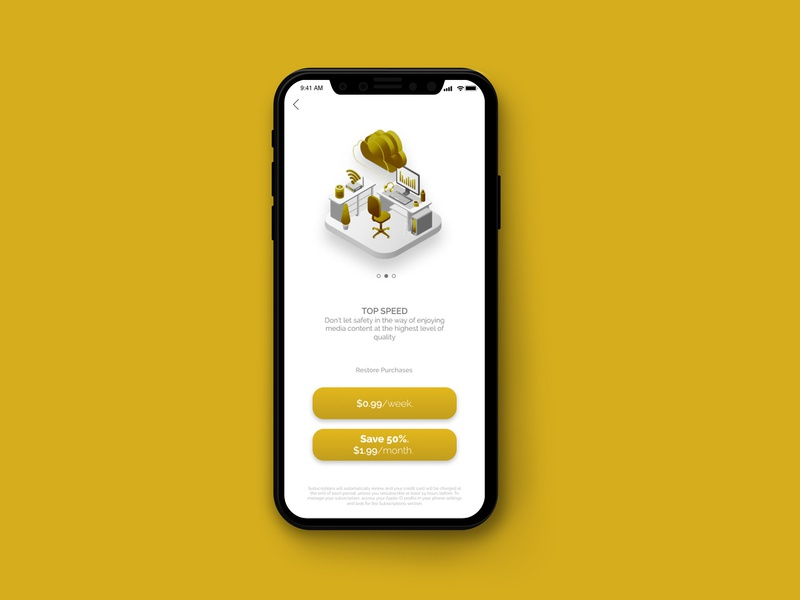 Paywall for an Internet App paywall payment design app ux ui