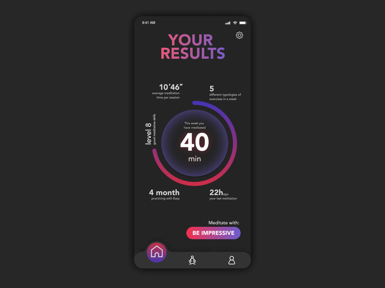 Exercise summary Home Page mobile ui app ui design dashboard