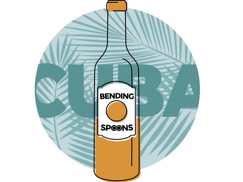 Cuba Sticker logo illustration design
