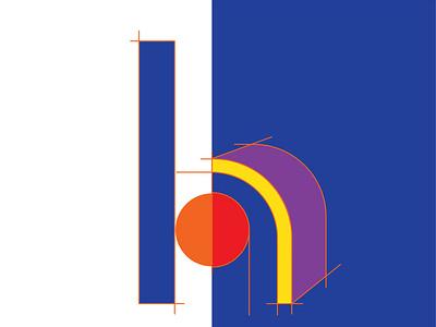 Letter H logo letterh typography lettering 36daysoftype