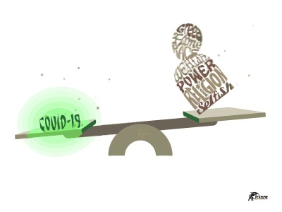 humanity vs Covid19 animation typographic design illustration art illustration covid19 humanity
