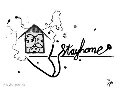stay home dribble illustration art illustration art digital art coronavirus corona pandemic stayhome