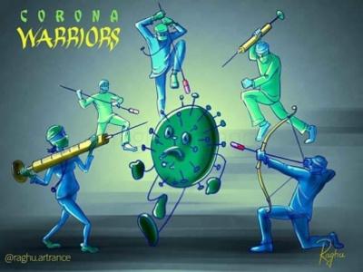 Corona warriors conceptart art coronavirus