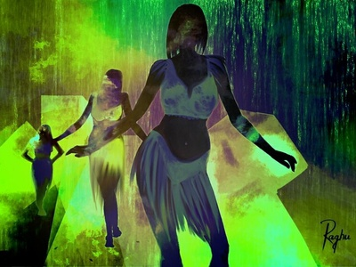 Dance digital art concept art illustration