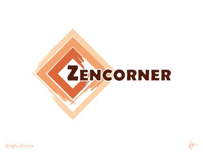 ZenCorner - Logo vector branding typographic design illustration art typographic illustration typography design illustration logo