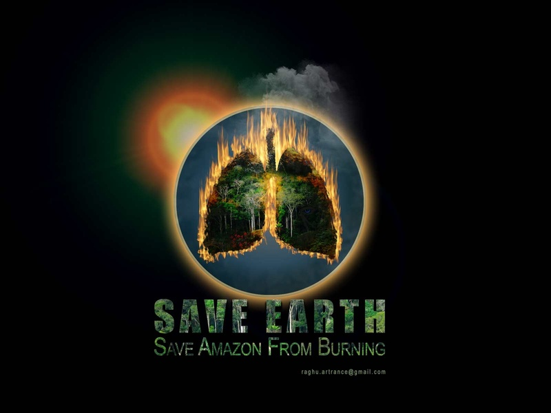 Save Earth planet earth planet poster wallpaper background graphic background amazon rainforest rainforest typography text artwork amazon save amazon save earth graphic concept art digital art digitalart art