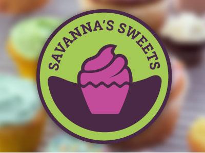 Savanna's Sweets Logo logo cupcakes