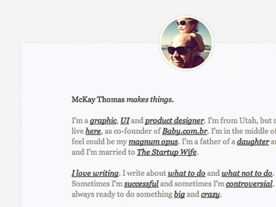 My new no-nav home page. Most minimal version yet. nonav home page minimalism minimal