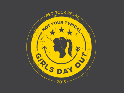 Not Your Typical Girls Day Out icon patch logo seal girls racing relay team sports
