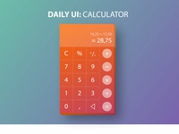 Daily UI Challenge: #004 Calculator