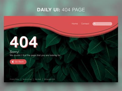 Daily UI Challenge: #008 404 Page