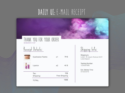Daily UI Challenge: #017 Email Receipt