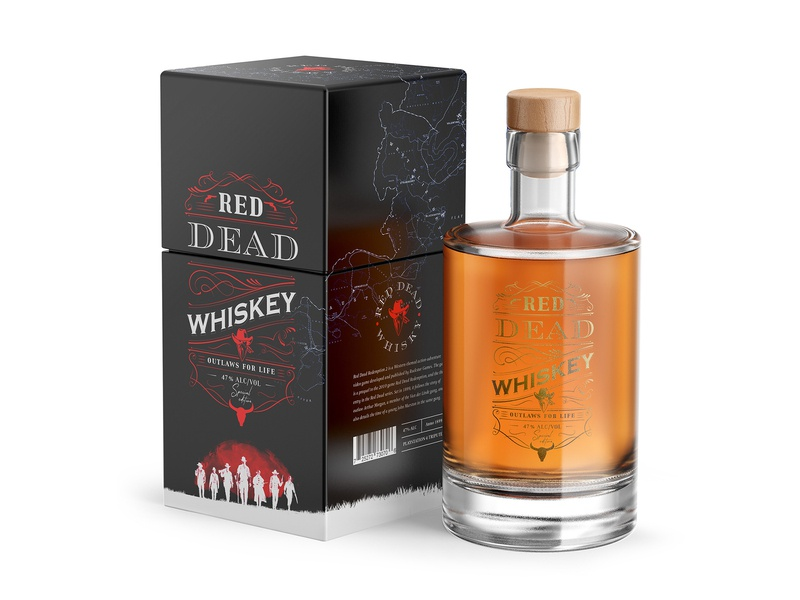 Red Dead Whiskey design red dead redemption whiskey packaging branding