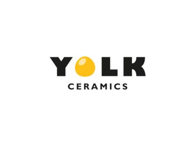 Yolk yellow ceramic egg yolk