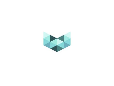 Wizartech poly polygon technology tech logo logotype