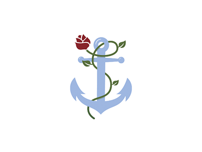 Fleur Marine yacht ship sea rose marine boat anchor flower