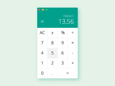 Calculator – Daily UI #004 ux ui mobile desktop interface mac calculator daily challenge 004