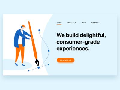 Design Studio Landing Page Illustration