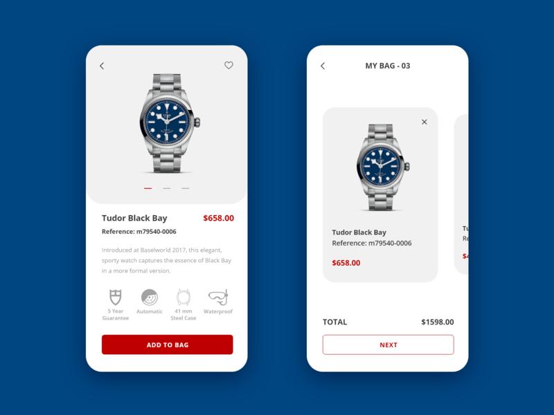 Watch Store App rebound concept design ecommerce app ecommerce mobile app mobile ui xd adobe xd adobe app ux ui