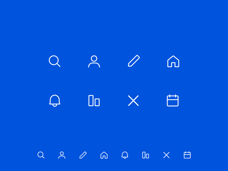 Crypto Assets Icons simple design web desgin ui clean