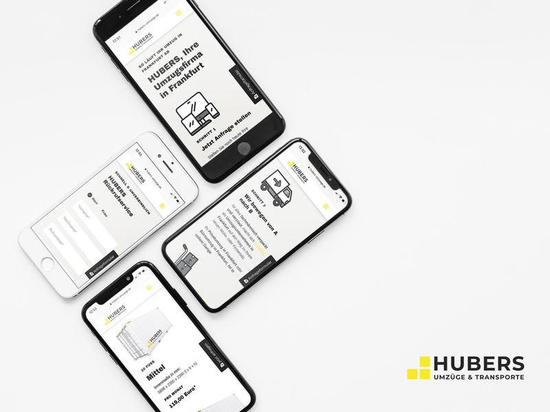 HUBERS Umzüge & Transporte brand design corporate design website webdesign