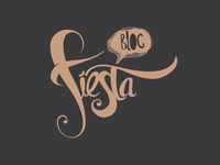 Fiesta Blog logo design