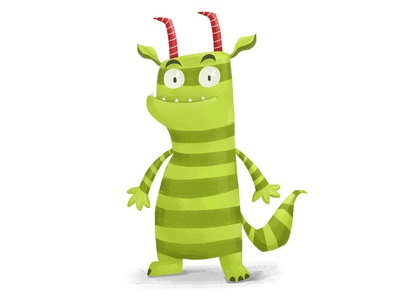 Monster childrenbook character design drawing digital cg cartoon adobephotoshop 2d illustration