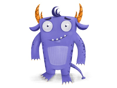 Monster childrenbook cute artwork character design cartoon adobephotoshop cg illustration 2d digital