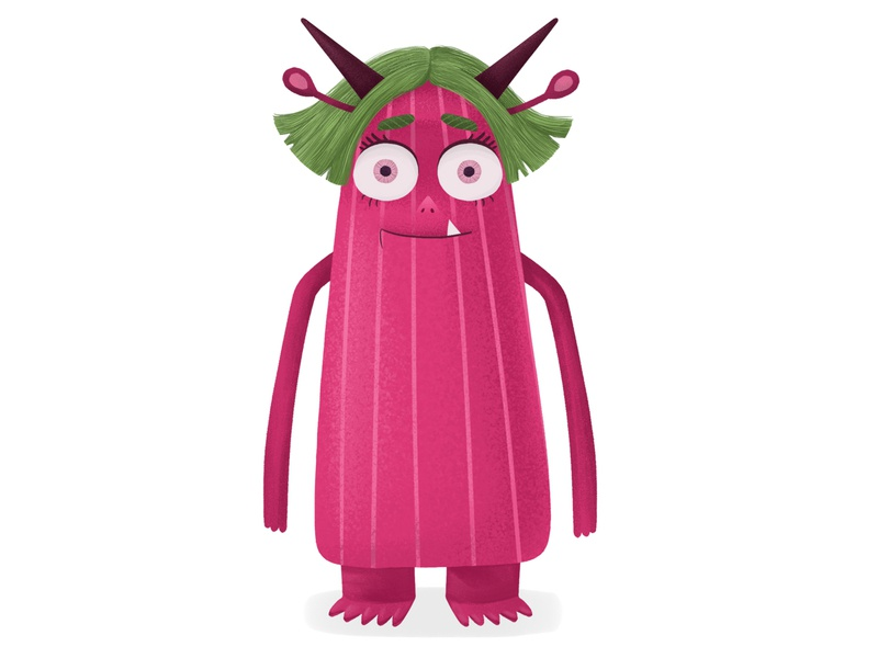Monster monster childrenbook cute character design cartoon adobephotoshop cg 2d illustration digital
