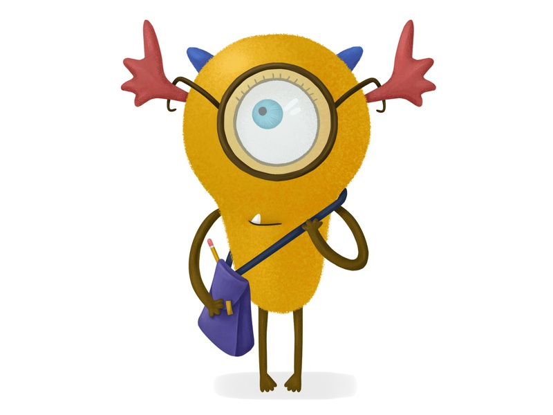 Monster monster childrenbook cute character design cartoon adobephotoshop cg illustration 2d digital