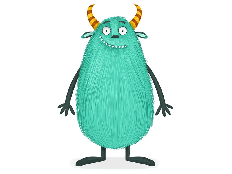 Monster cute monster childrenbook character design cartoon adobephotoshop 2d cg illustration digital