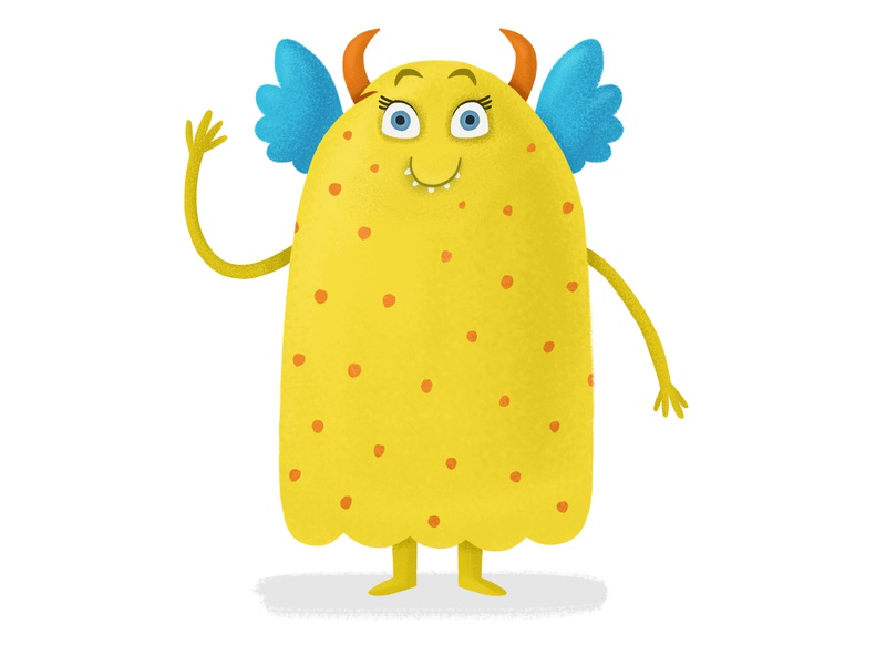 Monster childrenbook monster cute adobephotoshop character design cartoon cg illustration 2d digital
