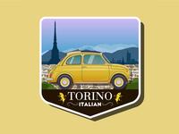 Vintage car logo. Torino