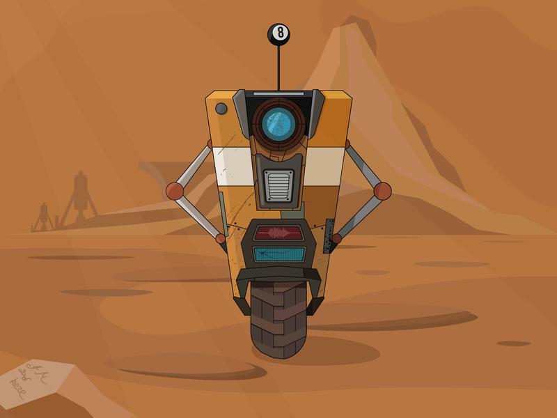 Claptrap from Borderlands vectorart design illustration vector logo cartoon art