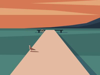 Vector minimalism art