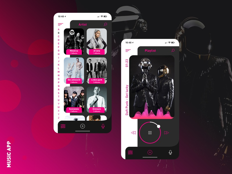 Music app concept player music ios iphone 10 android concept mobile app music app ux  ui inteface design ui app