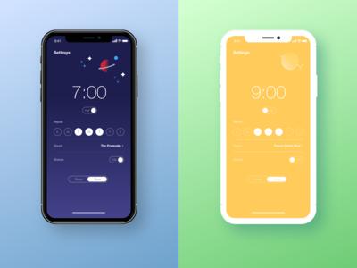 Alarm settings