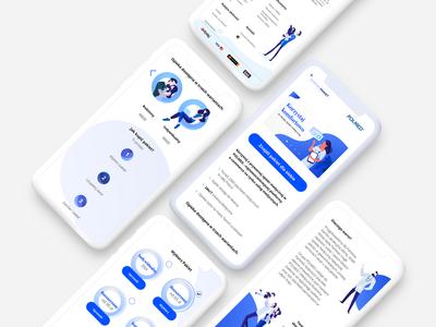 mobile website for medical company