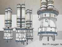 Oxygen tanks Sci-Fi concept art