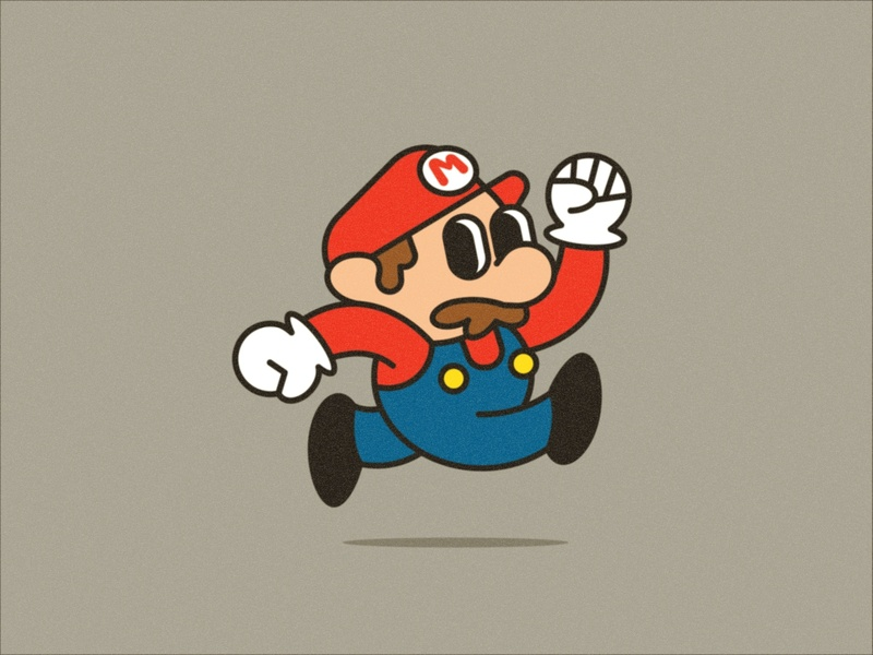 Mr. Jumper cartoon nintendo oldschool doodle vector illustration gaming retro mariobros mario